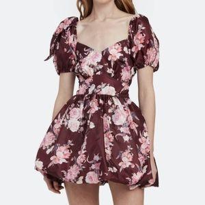 Loveshackfancy Hansel Dress Oxblood floral 2